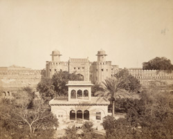 Citadel of Lahore from the Hazooree Bagh.